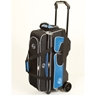 Linds Deluxe 3 Ball Roller Bowling Bag- Black/Blue