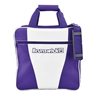 Gear Single White Series Bowling Bag- White/Purple