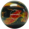Paramount Marbleized Candlepin Bowling Ball- Black/Red/Yellow