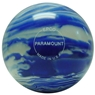 Paramount Marbleized Candlepin Bowling Ball- Blue/White