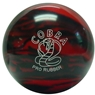 Candlepin Cobra Pro Rubber Bowling Ball- Red/Black