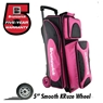 Brunswick Flash X Triple Roller Bowling Bag- Pink/Black