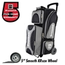 Brunswick Flash X Triple Roller Bowling Bag- Silver/Black