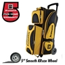 Brunswick Flash X Triple Roller Bowling Bag- Gold/Black