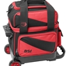 BSI Prestige Single Roller Bowling Bag- Red/Black