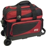 BSI Prestige Double Roller Bowling Bag- Black/Red