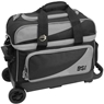 BSI Prestige Double Roller Bowling Bag- Black/Gray