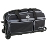 BSI Prestige 3 Ball Roller Bowling Bag- Black/Gray