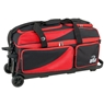 BSI Prestige Triple Ball Roller Bowling Bag- Black/Red