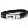 EFX Leather Band Steel Bracelet