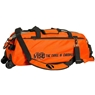 Vise Clear Top 3 Ball Roller Bowling Bag- Orange/Black