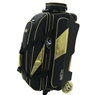 Elite Gold Deluxe Triple Roller Bowling Bag- Limited Edition- Black/Gold
