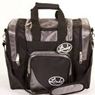 Linds Laser Deluxe Single Bowling Bag- Silver/Black