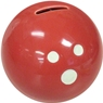 Ceramic Bowling Ball Bank- Red