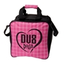 DV8 Diva Single Tote Bowling Bag- Pink/Black