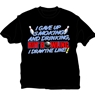 I Gave Up Smoking and Drinking T-Shirt- Black