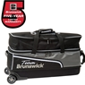 Team Brunswick Slim Triple Roller Bowling Bag with Pouch