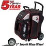 KR Lane Rover 2 Ball Bowling Bag- Black/Silver/Red