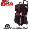 KR Lane Rover 3 Ball Bowling Bag- Black/Silver/Red