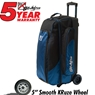 KR Cruiser Smooth Triple Roller Bowling Bag- Midnight Blue