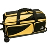BSI Prestige 3 Ball Roller Bowling Bag- Yellow/Black