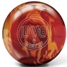 DV8 Misfit Bowling Ball- Red/Orange Solid