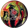 Ebonite Cyclone Bowling Ball- Black/Red/Yellow