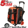 KR Krush Double Deluxe Roller Bowling Bag- Orange/Black