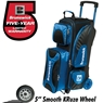 Brunswick Flash Triple Roller Bowling Bag- Black