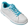 Brunswick Ladies Satin Bowling Shoes- White/Aqua