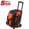 Moxy Double Roller Bowling Bag- Orange/Black