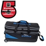 Team Brunswick Slim Triple Roller Bowling Bag with Shoe Pouch