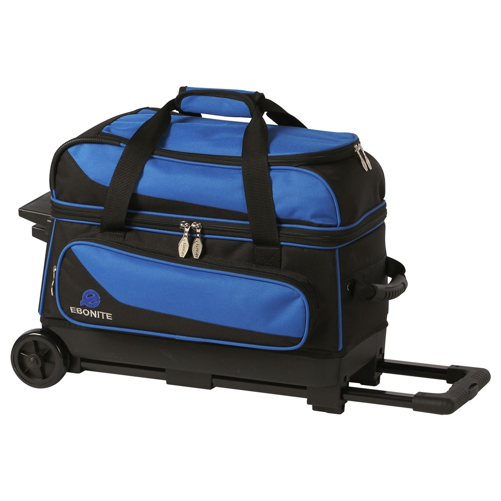 Ebonite Transport 2 Ball Roller Bowling Bag Many Colors