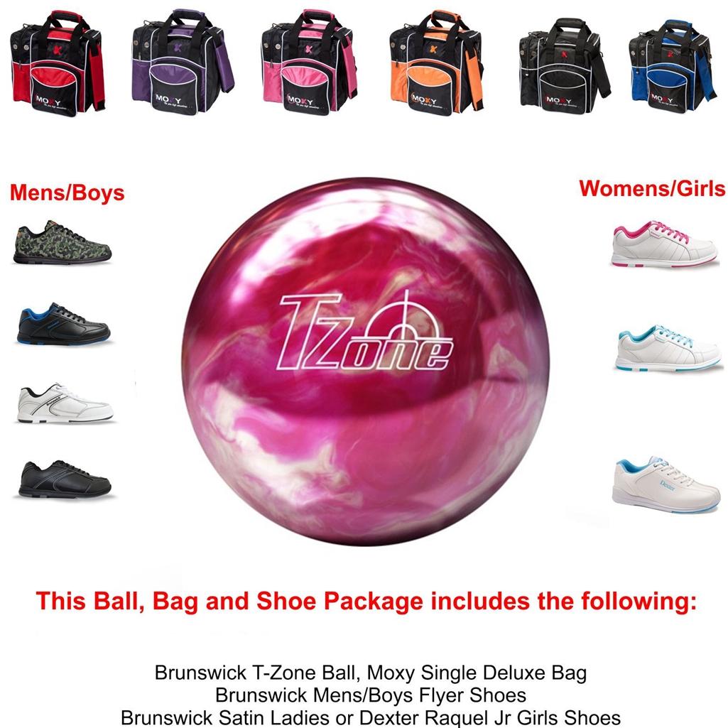 Brunswick T-Zone Pink Bliss Bowling Ball,KR Strikeforce Shoe and ...