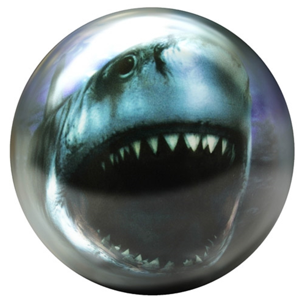Brunswick Shark Glow PRE-DRILLED Viz-A-Ball Bowling Ball