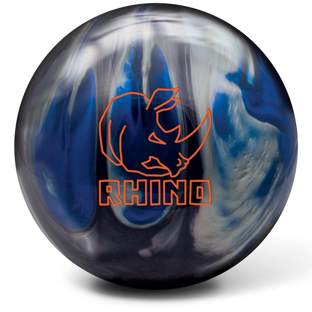 Brunswick Rhino Reactive Bowling Ball- Black/Blue/Silver