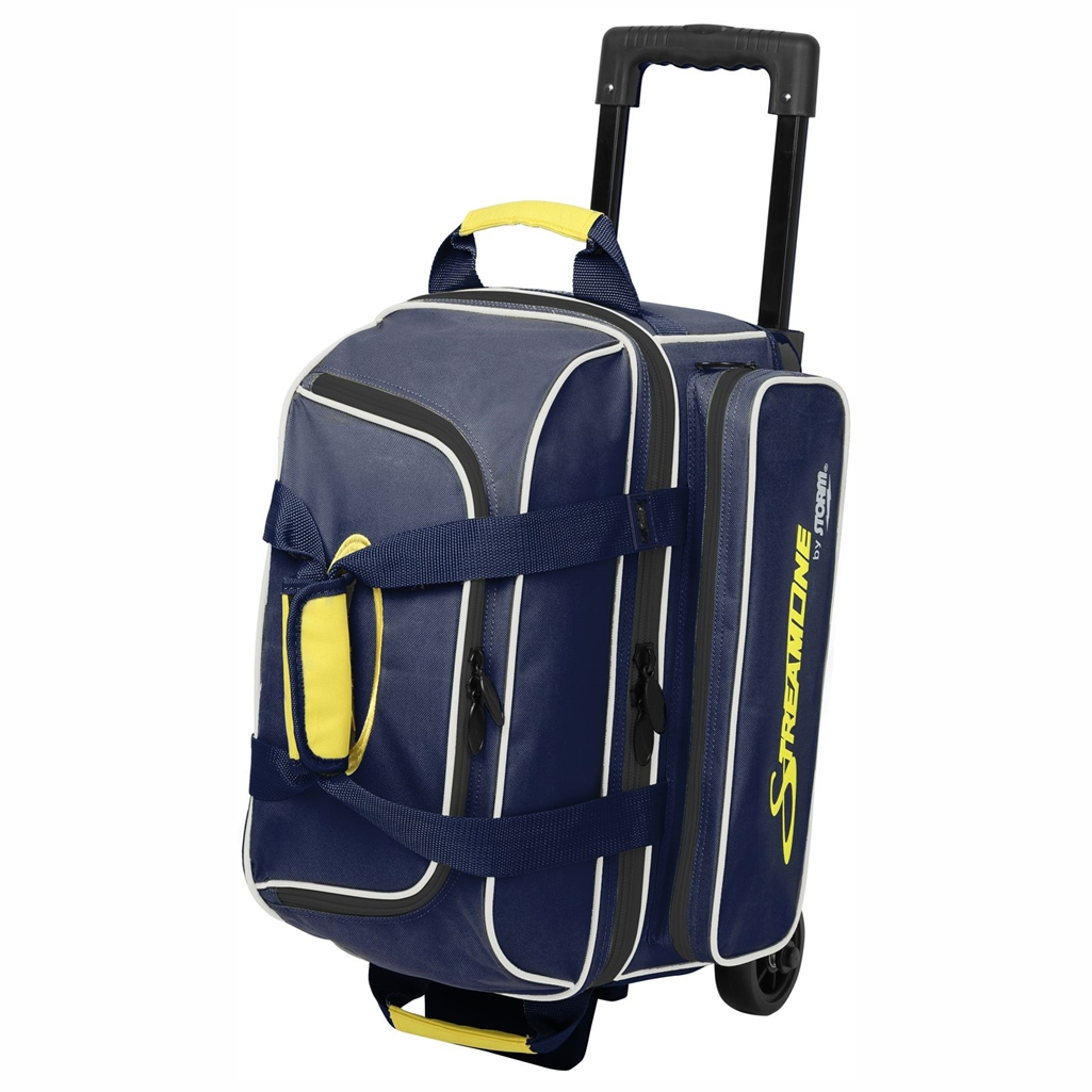 Storm Streamline 2 Ball Roller Bowling Bag Navy Gray Yellow