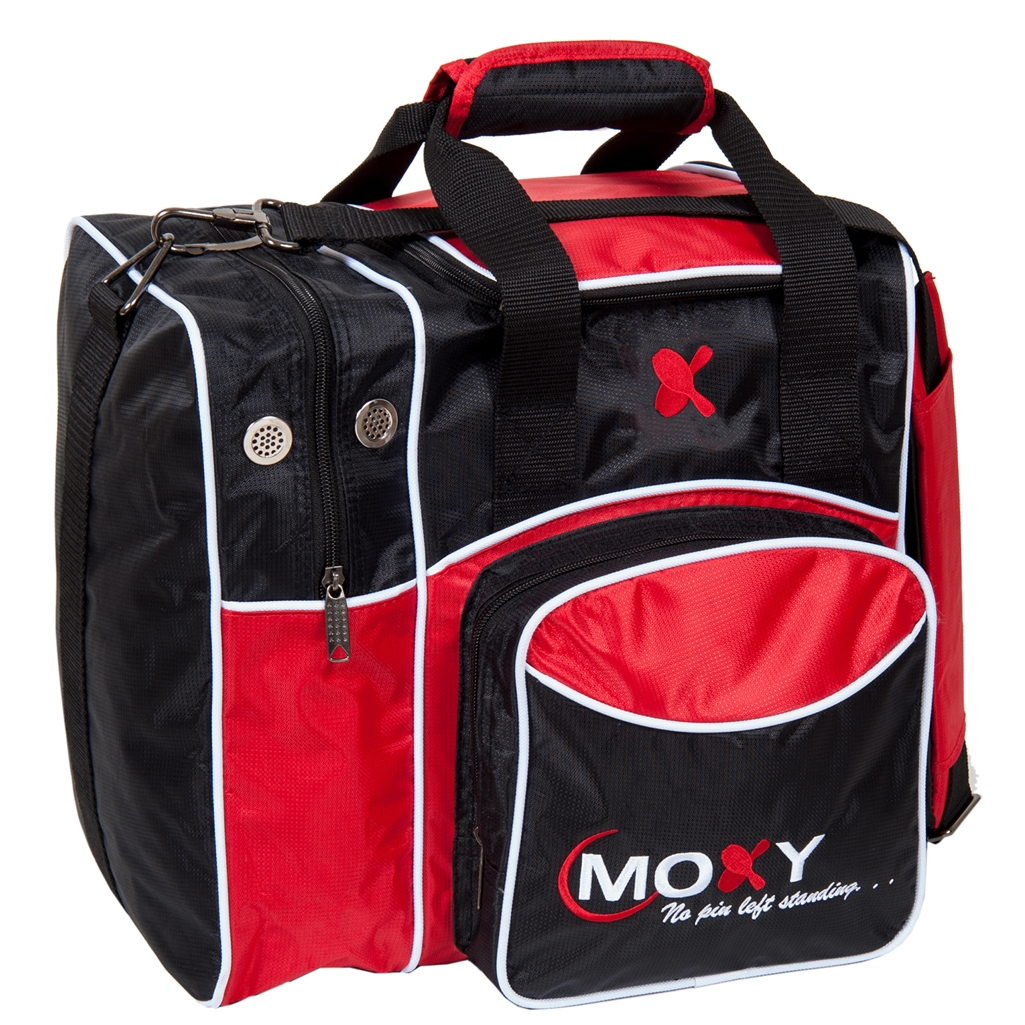 Moxy Deluxe Single Bowling Bag- Red/Black