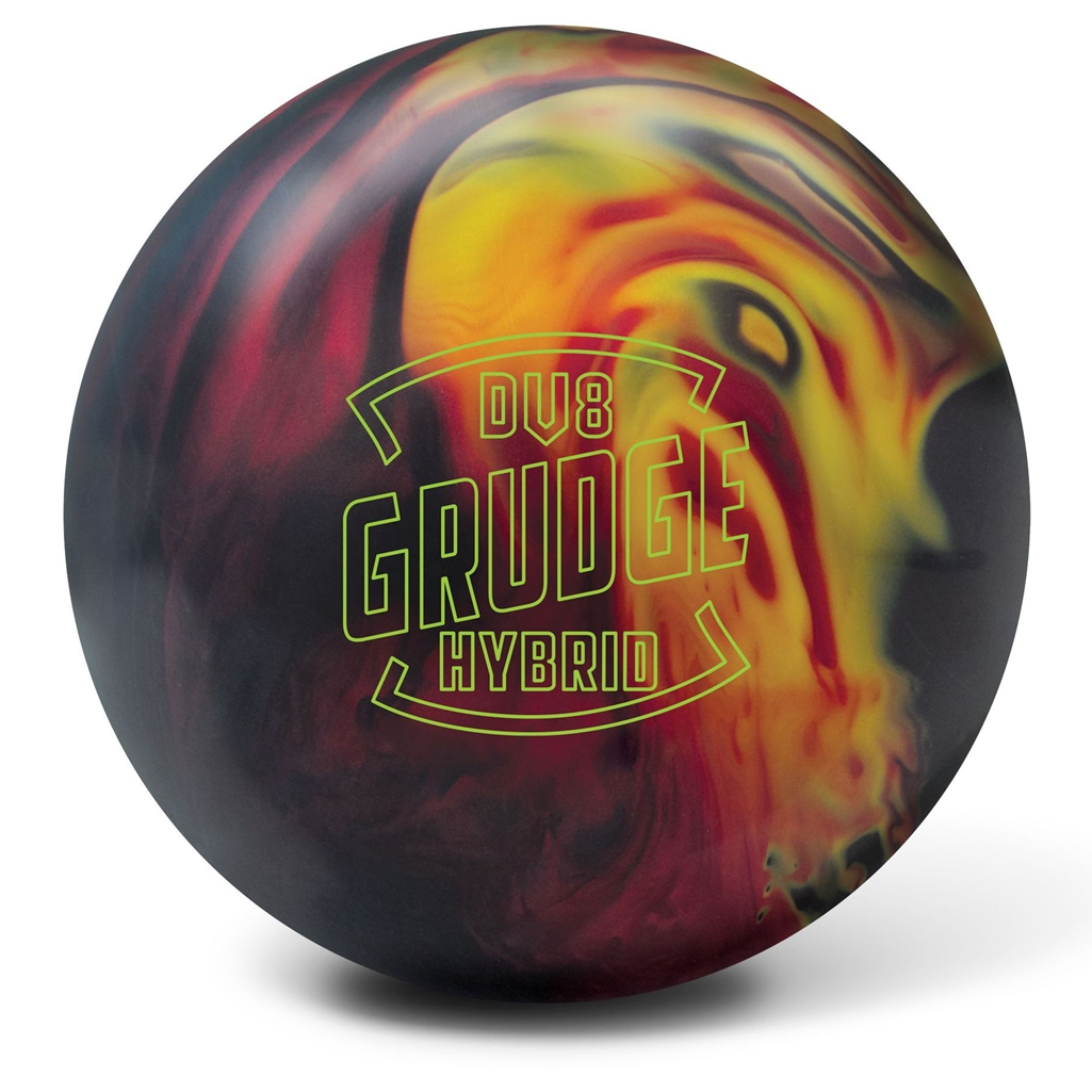 The DV8 Grudge Hybrid bowling ball is designed for Maximum Backend Reaction and is ideal for Medium to Heavy Oil.