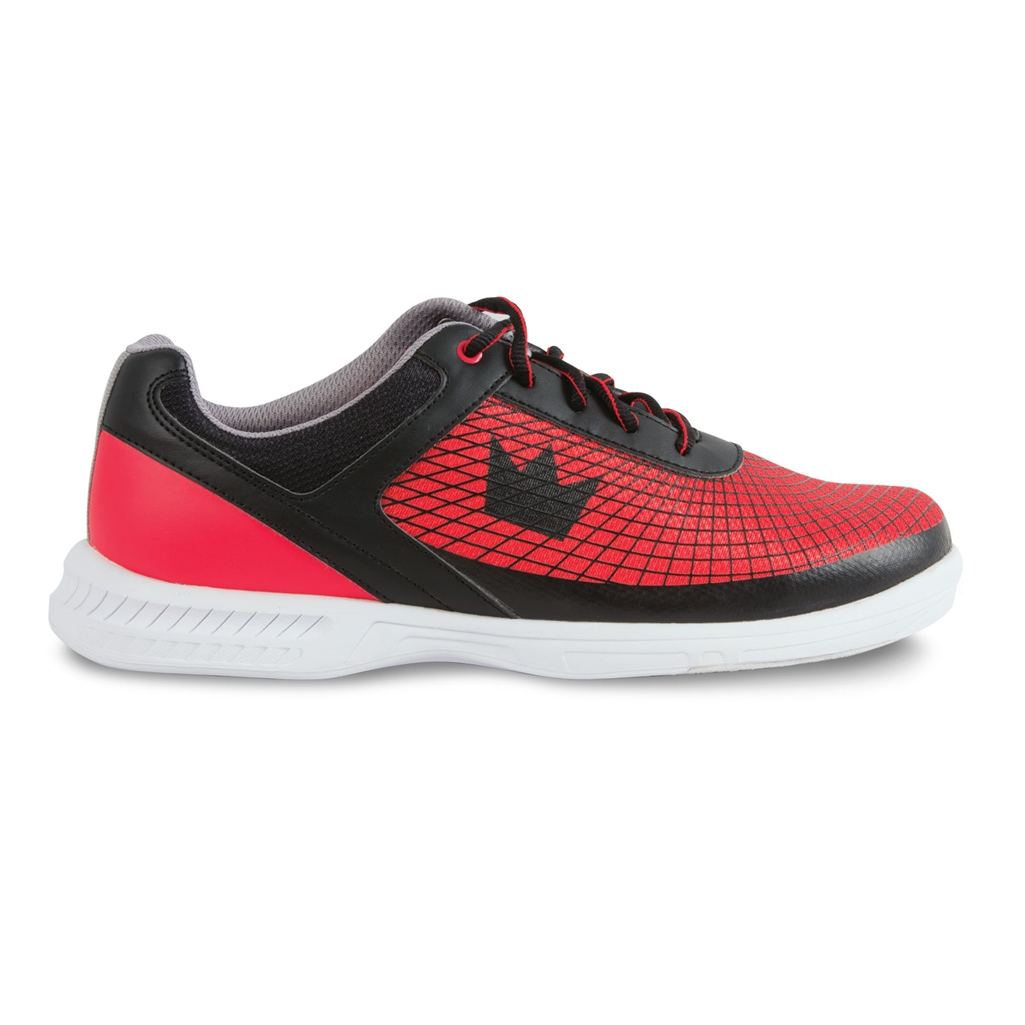 Brunswick Mens Frenzy Wide Width Bowling Shoes- Black/Red | Free ...