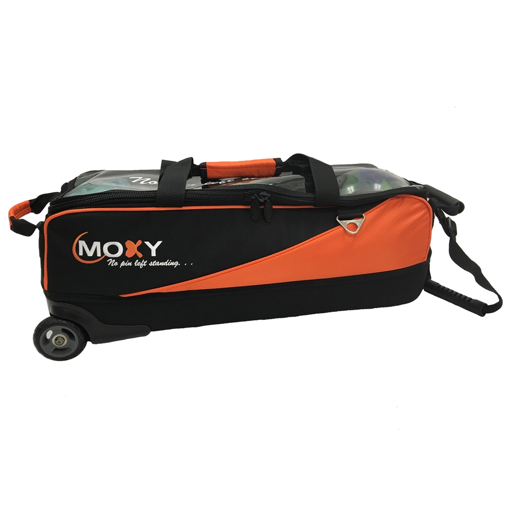 Moxy Slim Triple Roller Bowling Bag- Red/Black