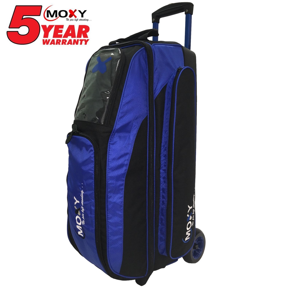Moxy Blade Triple Roller Bowling Bag- Royal/Black