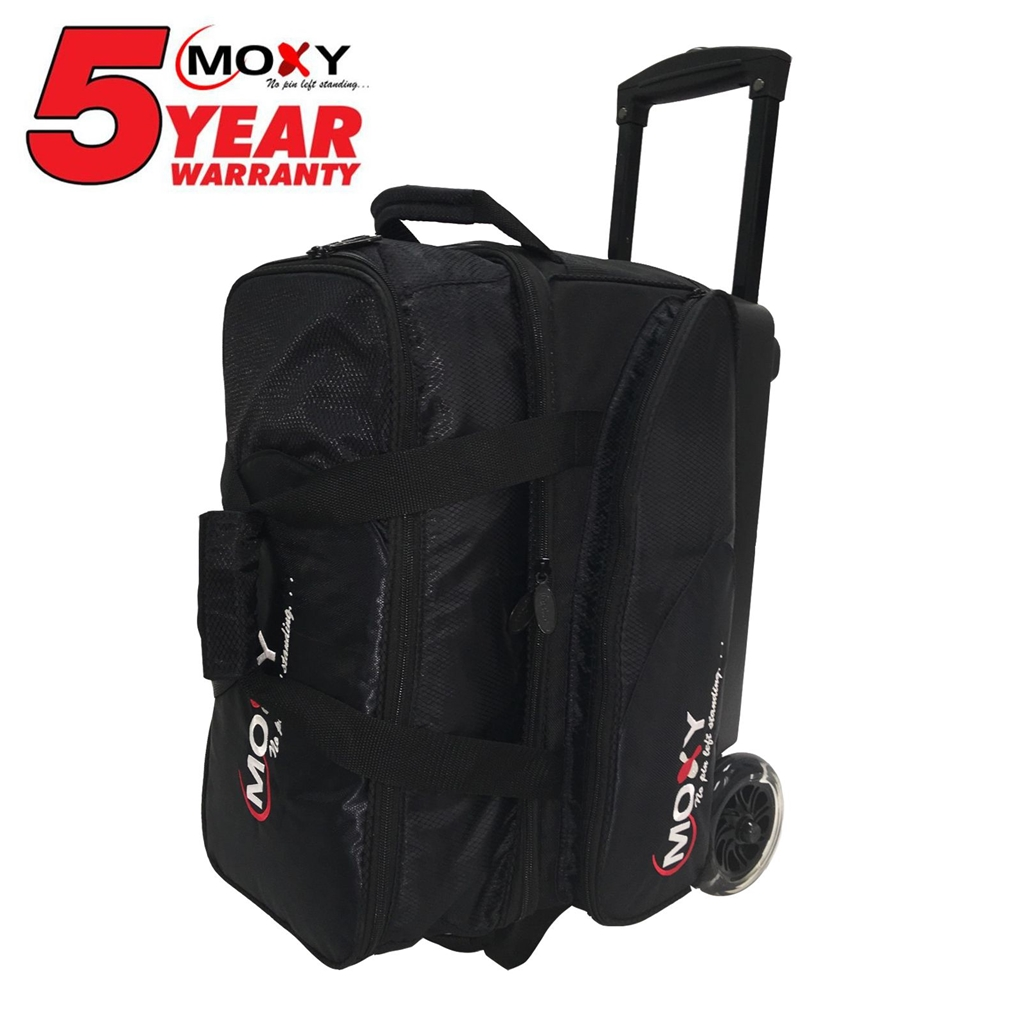 Moxy Blade Premium Double Roller Bowling Bag- Black