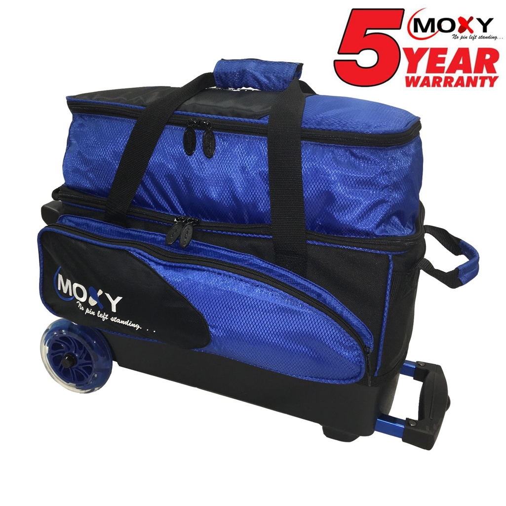 Moxy Blade Premium Double Roller Bowling Bag Royal Black