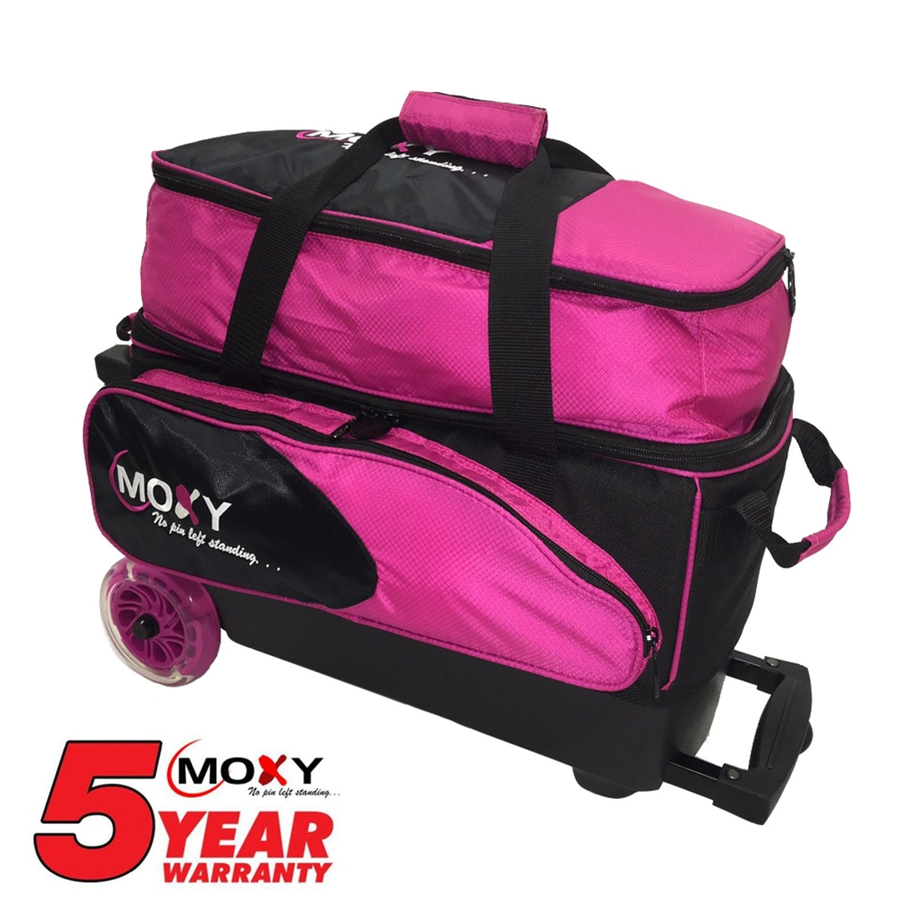 Moxy Blade Premium Double Roller Bowling Bag- Pink Black   Moxy ... 0f86f98c7a