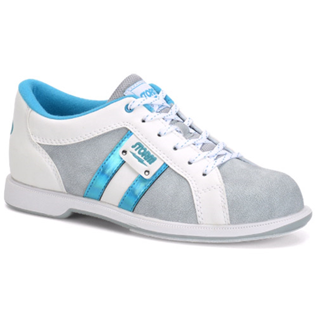 bfd14e8b7f9d44 Storm Womens Strato Bowling Shoes- Gray White Teal