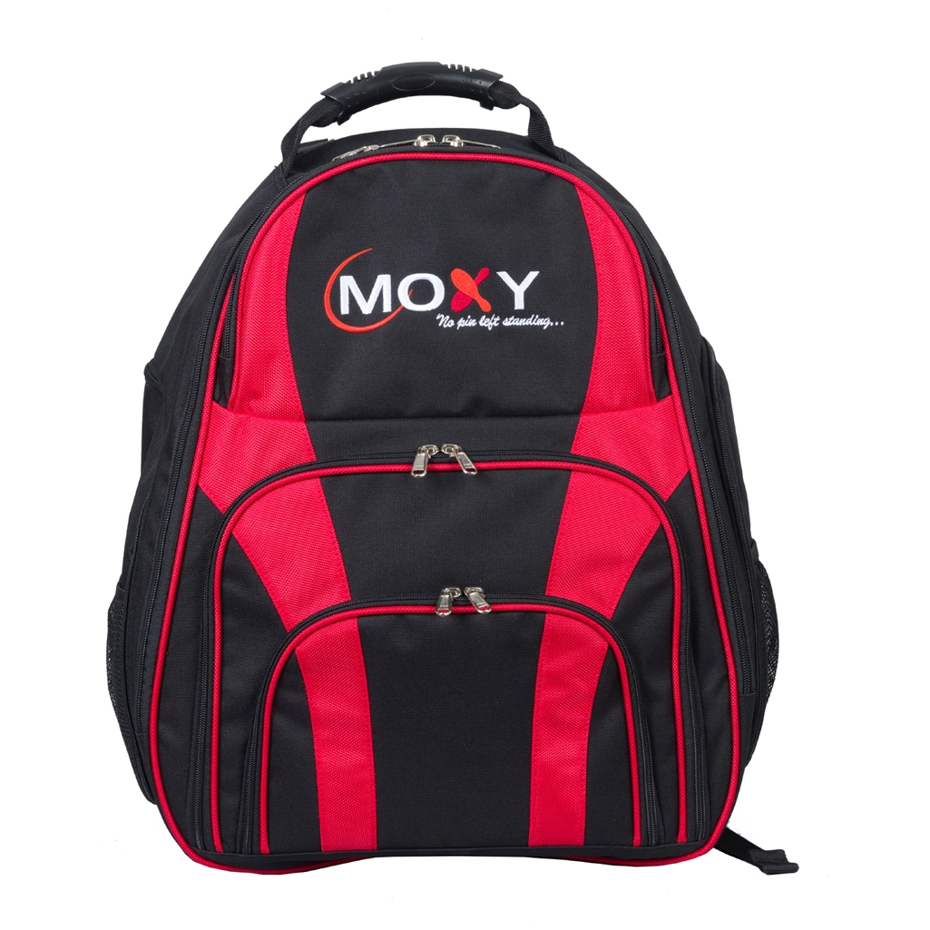 Moxy Duo 2 Ball Backpack Bowling Bag- Black/Red
