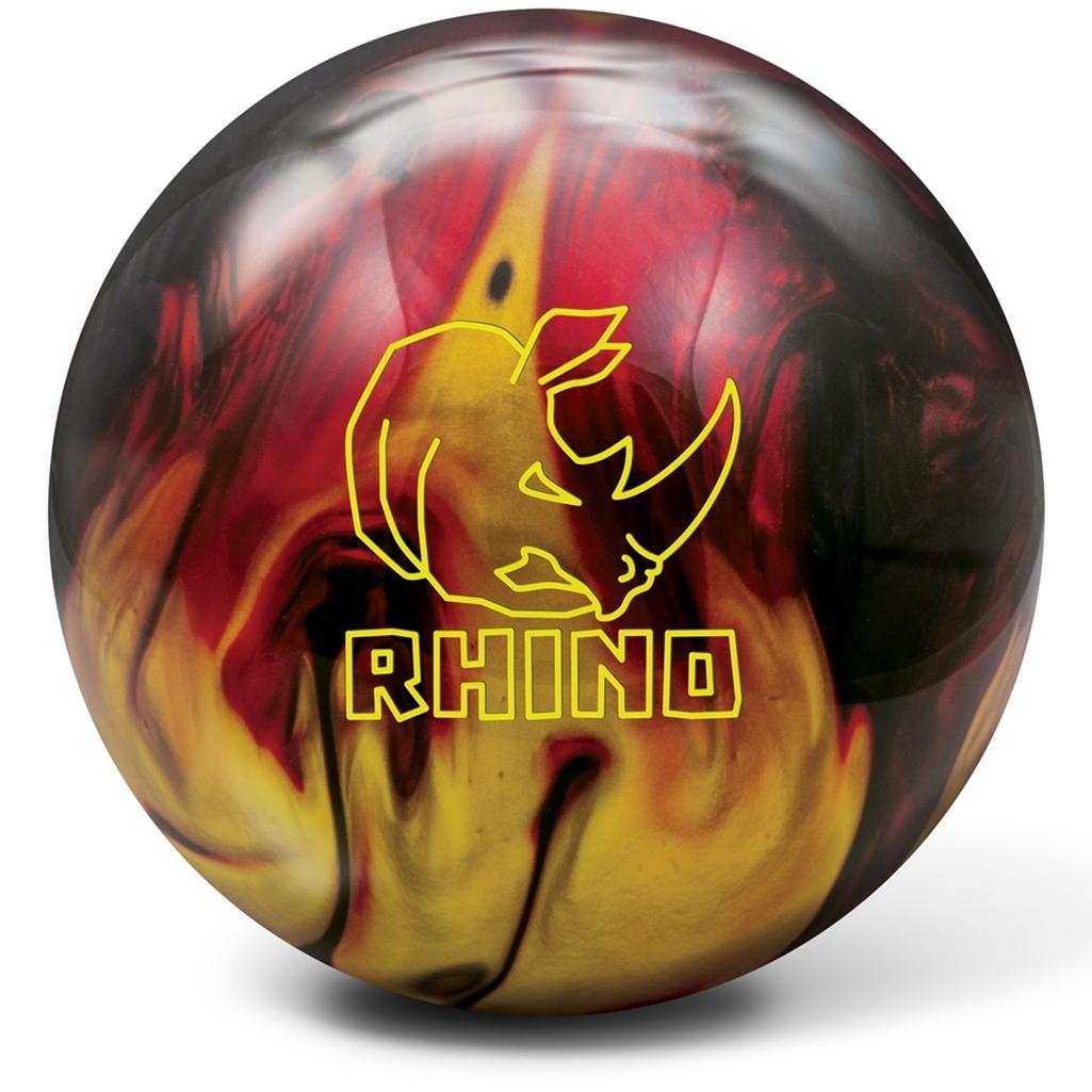 Brunswick Rhino Reactive PRE-DRILLED Bowling Ball- Red/Black