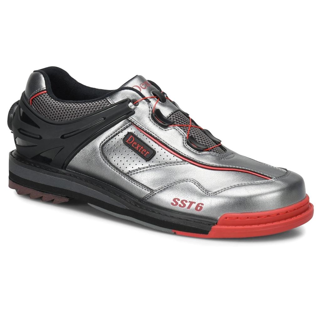 aa1af0fe2f Dexter Mens SST 6 Hybrid BOA Bowling Shoes Wide Width- Grey Black Red