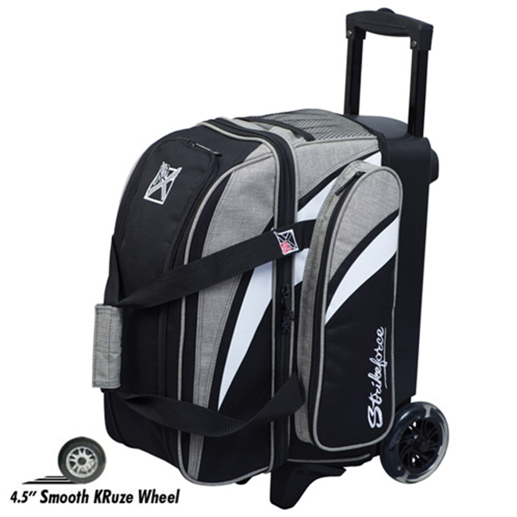 KR Cruiser Smooth Double Roller Bowling Bag- Stone